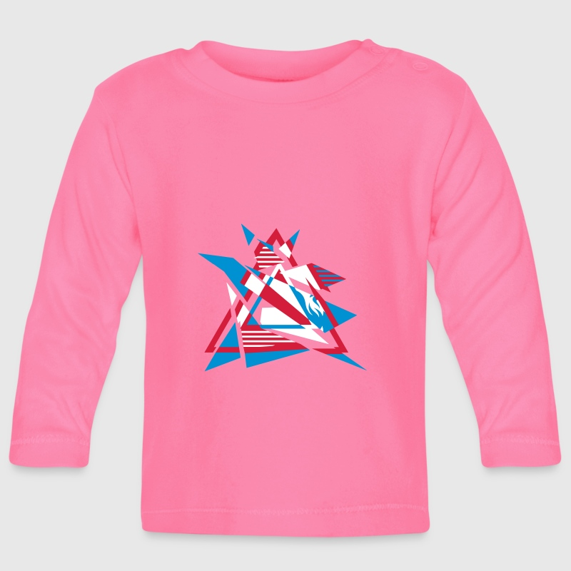 Hipster Triangle Design - Baby Long Sleeve T-Shirt