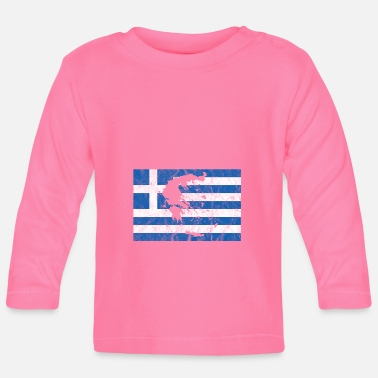 Griechland Greek flag outline holiday - Baby Longsleeve Shirt