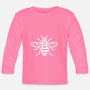 Bee Manchester Bee (White) - Baby Long Sleeve T-Shirt