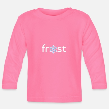 Frost Winter frost ice crystal - Baby Long Sleeve T-Shirt