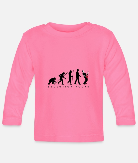 Drummer Baby Clothes - evolution_rocks_032012_m_3c - Baby Longsleeve Shirt azalea