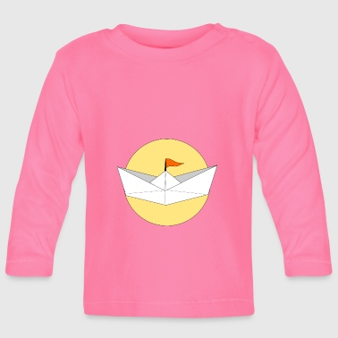 origami paper plane paper airplane8 - Baby Long Sleeve T-Shirt