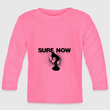surfer girl 4 black - Baby Long Sleeve T-Shirt