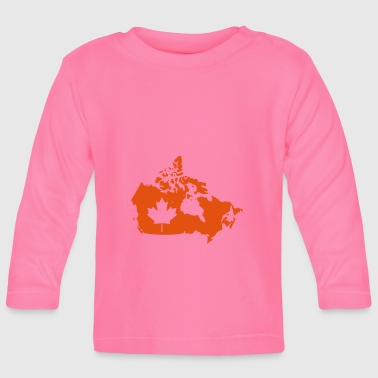 Canada Map - Canada Map - Baby Long Sleeve T-Shirt