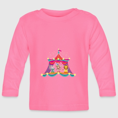 Circus - Monkey Circus - Circus Animals Hare Lion - Baby Long Sleeve T-Shirt