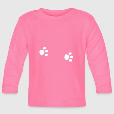 Paws paw paw paws footprint animal trace - Baby Long Sleeve T-Shirt