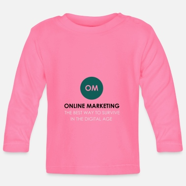 Online Online Marketing - Langærmet babyshirt