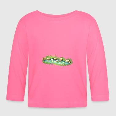 Ordina online maglietta a maniche lunghe per neonati con for Piante da stagno