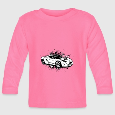 Sportscar Cool white sportscar - Baby Long Sleeve T-Shirt
