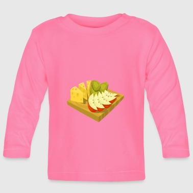kiwi fruits fruit fruit fruit veggie vegetarian - Baby Long Sleeve T-Shirt