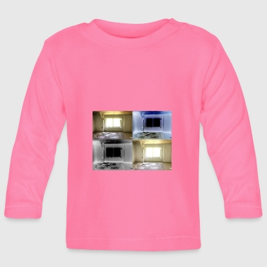 Window abandoned house gift idea retro trend - Baby Long Sleeve T-Shirt