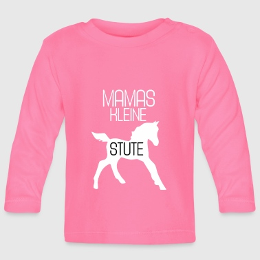 Mare baby horse foal - Baby Long Sleeve T-Shirt