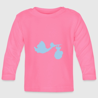 Stork with baby - Baby Long Sleeve T-Shirt