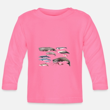 Beak Sperm whales and beaked whales - Sperm whales & Beaked whales - Baby Long Sleeve T-Shirt