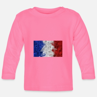 French Flag French flags. - Baby Long Sleeve T-Shirt