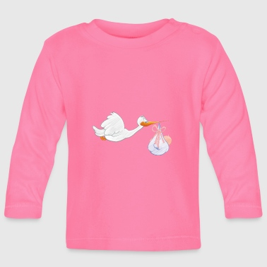 Stork with toddler - Baby Long Sleeve T-Shirt