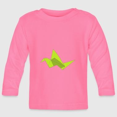 origami paper plane paper airplane47 - Baby Long Sleeve T-Shirt