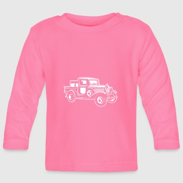 Pickup Truck Classic Car 01_weiß - T-shirt