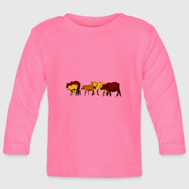 Cows cattle herd farm farm animals gift - Baby Long Sleeve T-Shirt