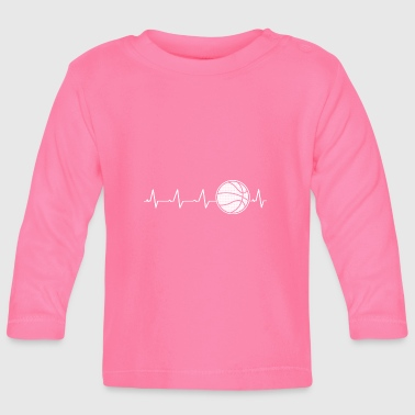 I Love Basketball Basketball heart (I love basketball) - Baby Long Sleeve T-Shirt