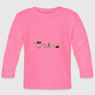 Train Set with Steam Engine and Diesel - Baby Long Sleeve T-Shirt
