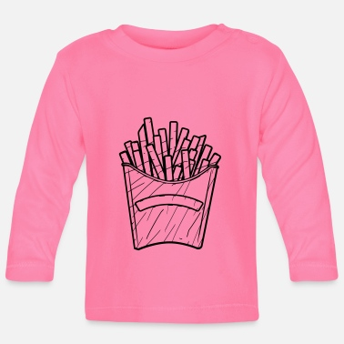 Snack Fast Food Pommes Design - Baby Longsleeve Shirt