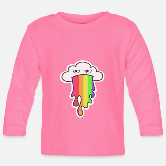 Cloud Baby Clothes - Rainbow cloud - Baby Longsleeve Shirt azalea
