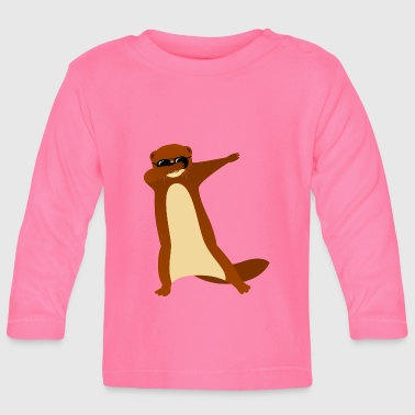 Dabbing Otter With Sunglasses - Cool Gift - T-shirt