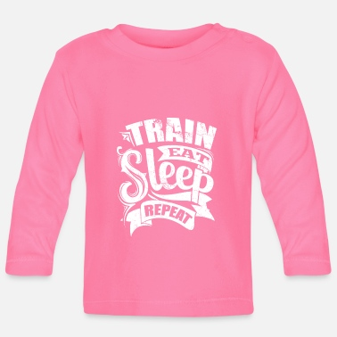 Sports Train Sports Gym Quotes - Baby Longsleeve Shirt