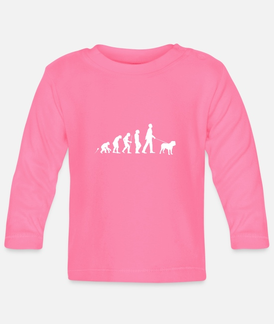 Heart Baby Long-Sleeved Shirts - Dogue de Bordeaux gift shirt - Baby Longsleeve Shirt azalea