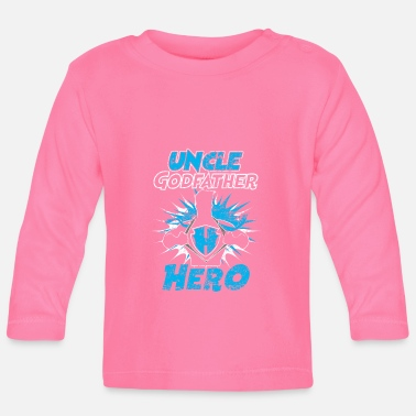 Distressed Uncle Godfather Hero Distressed - Baby Langarmshirt
