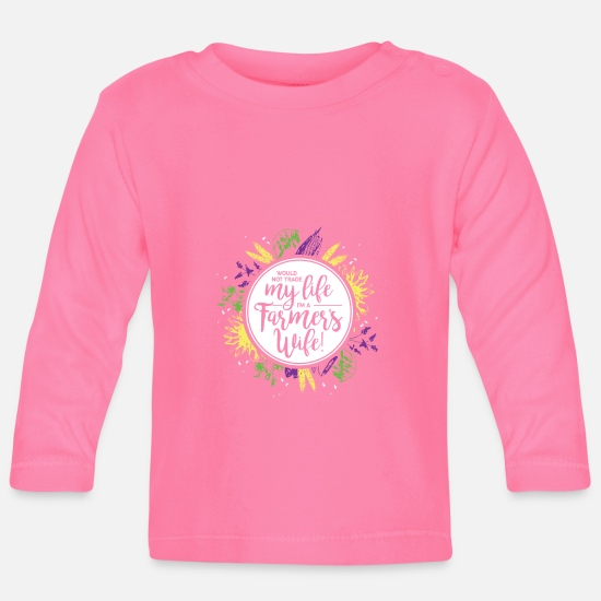 Farmer's Wife Baby Clothes - Farmers Wife - Baby Longsleeve Shirt azalea