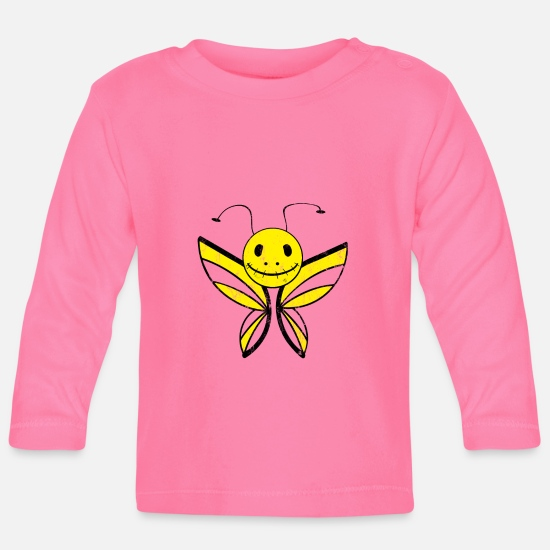 Birthday Baby Clothes - Butterfly scary monster emo kids gift - Baby Longsleeve Shirt azalea