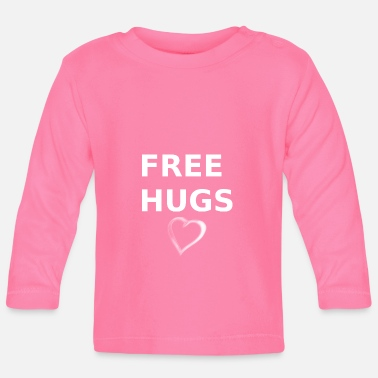 Heartily Free Hugs heart - Baby Longsleeve Shirt