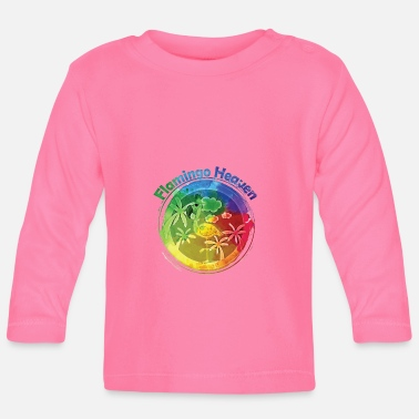 Heaven Flamingo Heaven Rainbow - T-shirt manches longues Bébé