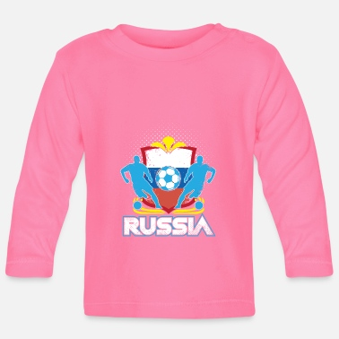 Officialbrands World Soccer Russia / Football Love T-Shirt - Baby Long Sleeve T-Shirt