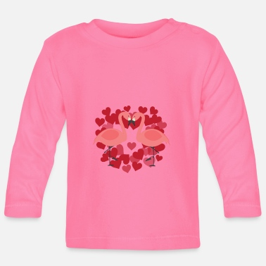 Officialbrands Flamingo - LOVE BIRDS - T-Shirt - Langærmet babyshirt
