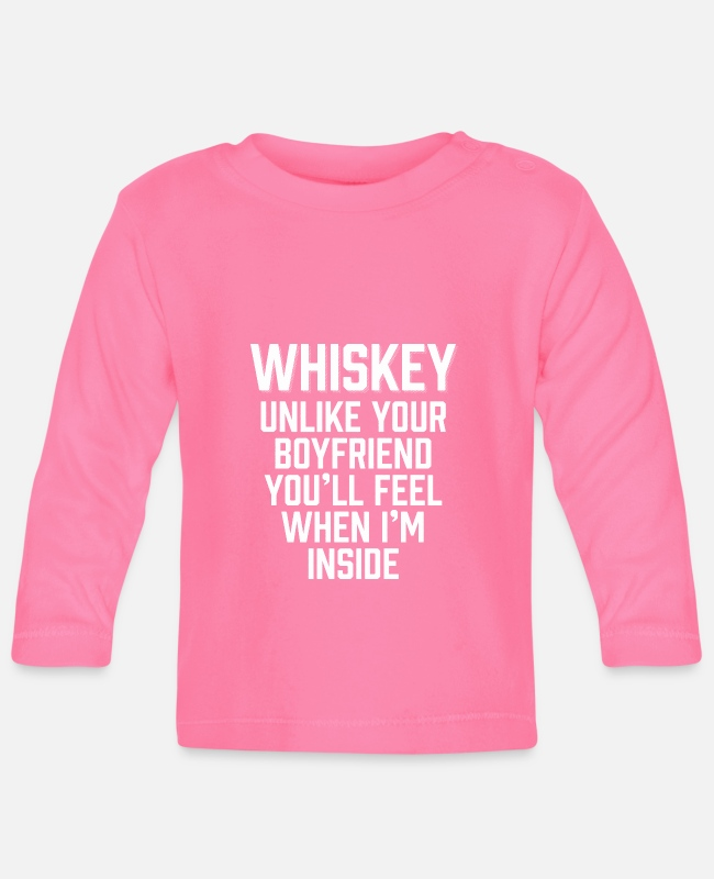 Spirits Baby Long-Sleeved Shirts - Whiskey You'll Feel When I'm Inside - Baby Longsleeve Shirt azalea