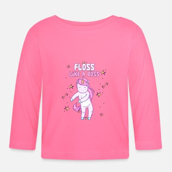 fe2f8d52 Boss Baby Clothes - Unicorn Floss Like A Boss Flossing Dance Gift - Baby  Longsleeve Shirt