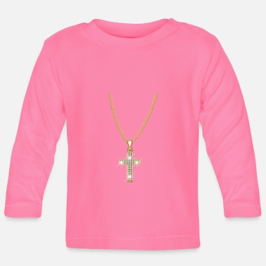 Strass Steentjes Ketting Jesus Christ Cross Gift - T-shirt