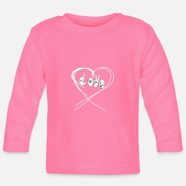 Hand Sign Sign Language Sign Language Love Hand Sign - Baby Longsleeve Shirt