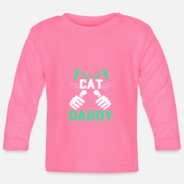 Daddy Cats Father Dady - Cat Daddy - T-shirt manches longues Bébé