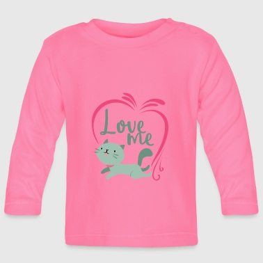 I love affection gift cat affection - Baby Long Sleeve T-Shirt