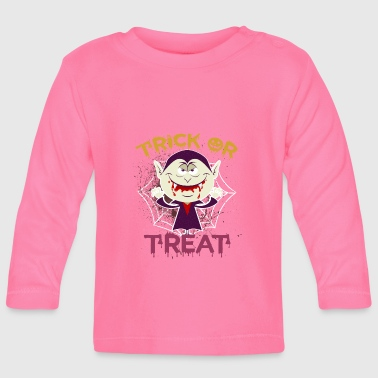 Vampire Trick or Treat Halloween Kids Costume - Baby Long Sleeve T-Shirt