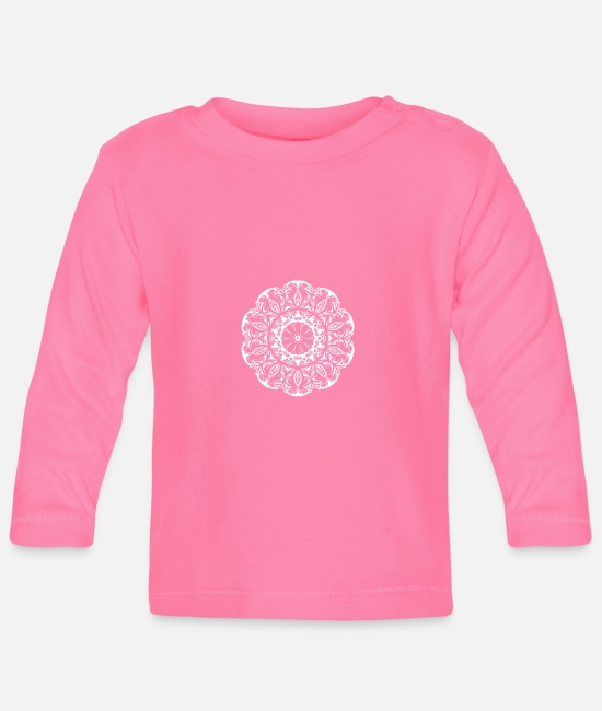 Pattern Baby Long-Sleeved Shirts - Kaleido - Baby Longsleeve Shirt azalea