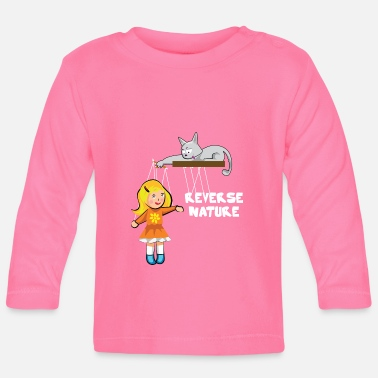Slave Female Cat plays with a female slave as a puppet - Baby Longsleeve Shirt