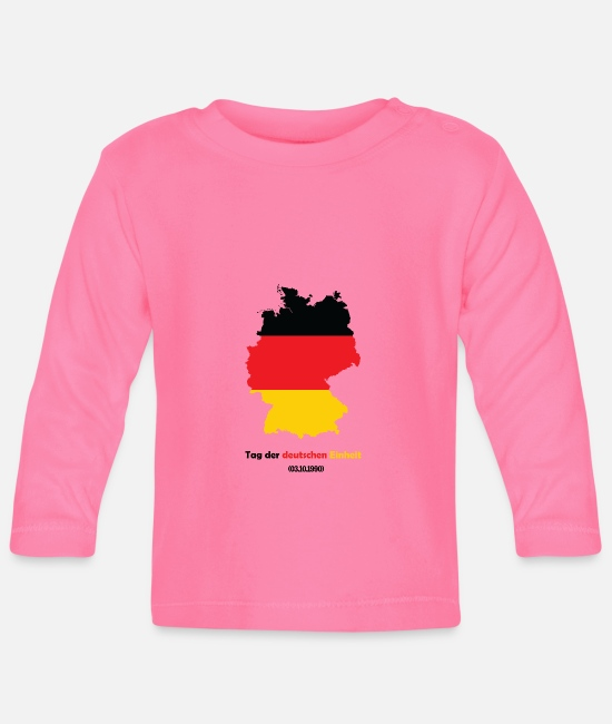 Federal Republic Of Germany Baby Clothes - Day of German unity - Baby Longsleeve Shirt azalea