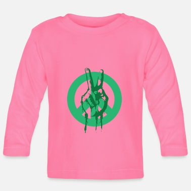 Global Peace Peace Peace Peace Sign - Baby Longsleeve Shirt