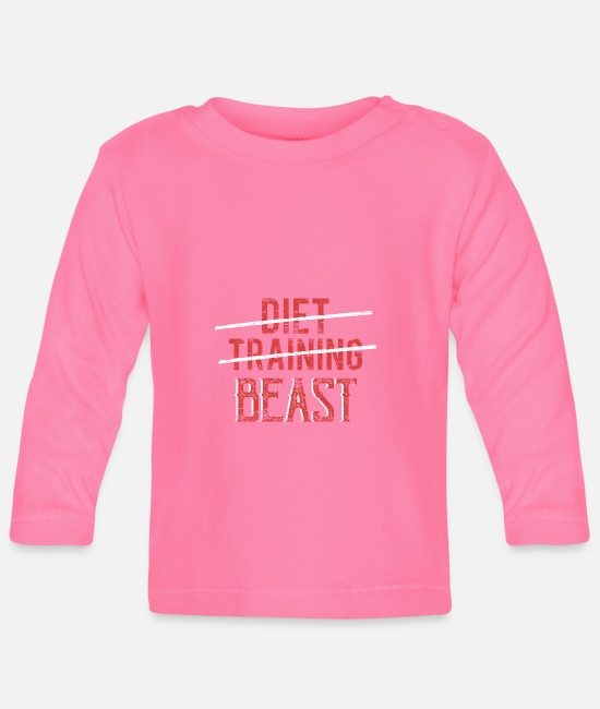 Proud Baby Long-Sleeved Shirts - Diet training Beast - Baby Longsleeve Shirt azalea