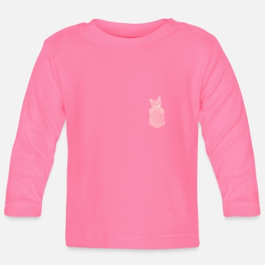 Pussy Cute kitty cat gift - Baby Long Sleeve T-Shirt
